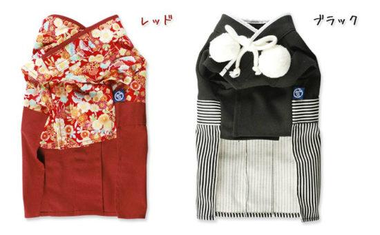 男の子用の正装(和装)の袴がりりしい日本製の犬用和装