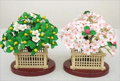 桜橘、紅白梅の単品販売