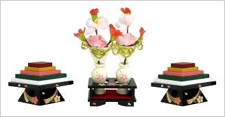 前飾りの単品販売(内裏雛の前に飾るお道具のセット)