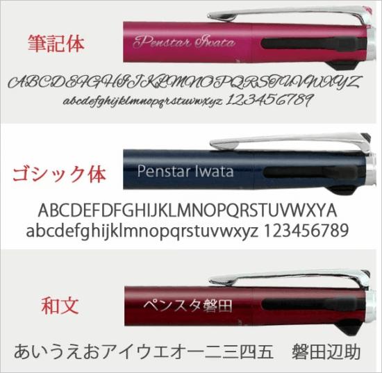 1位 名入りボールペン(ジェットストリーム)極細0.5mm黒赤シャープ